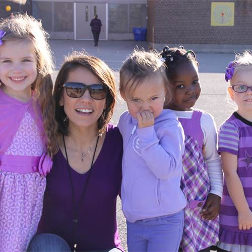 """Dress purple Day"" breaks the silence around child abuse"